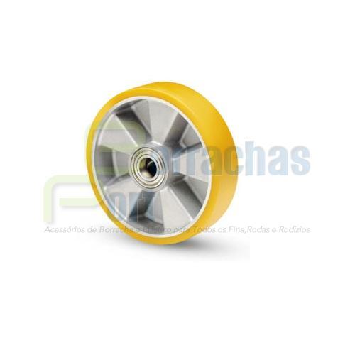 roda aluminio com poliuretano